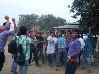 Celebration with Students in my last picnic in IST