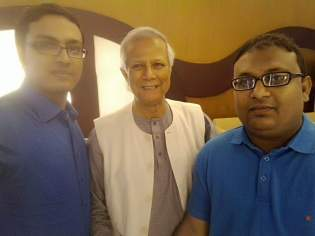 With Dr. Younus