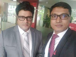 With Actor Ferdious